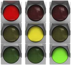 3 traffic lights, QuickBooks Inventory Management