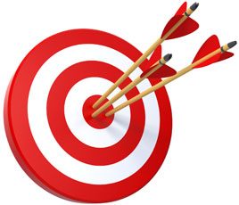 3 bull's-eyes in a target, QuickBooks Inventory Management