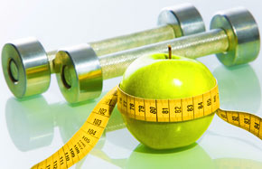 Healthy apple and weights, Fishbowl Blog