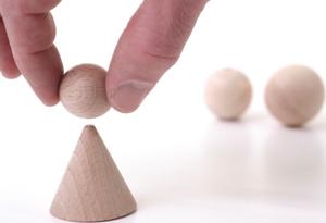 Balancing ball on triangle, Fishbowl Blog