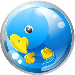 Twitter bird in a Fishbowl, Fishbowl Blog