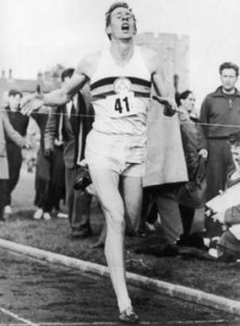 Sir Roger Bannister finishes 4-minute mile, Fishbowl Blog