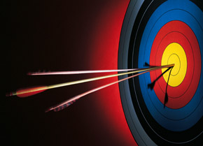 Bull's eye arrows, Fishbowl Blog